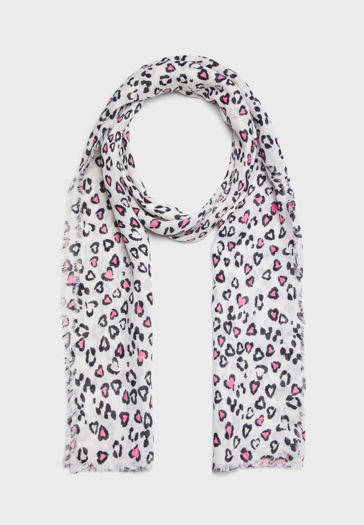 Annie Light Animal Print Scarf