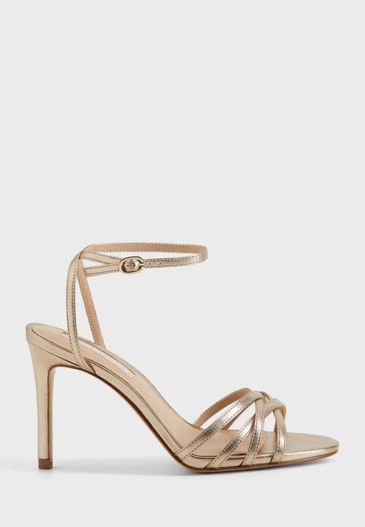 Orca Metallic Strap High Heel Sandal