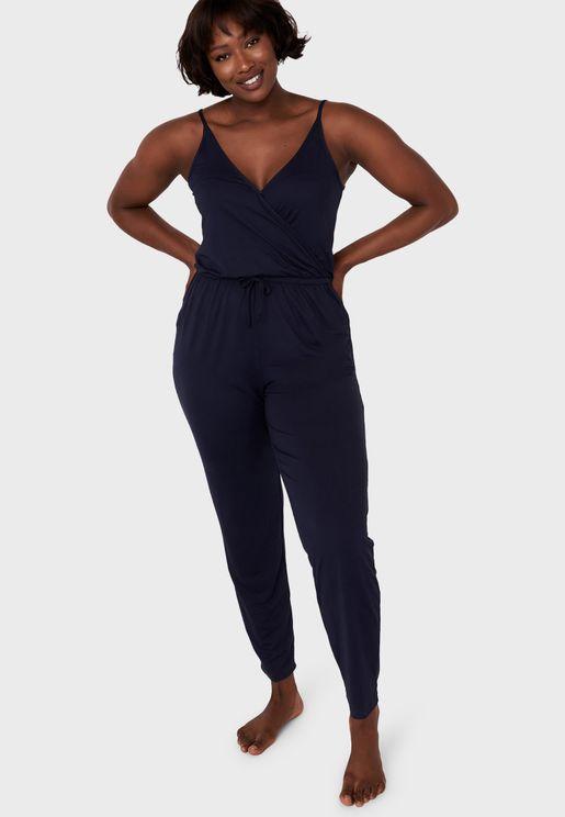 Printed Pyjama Jumpsuit