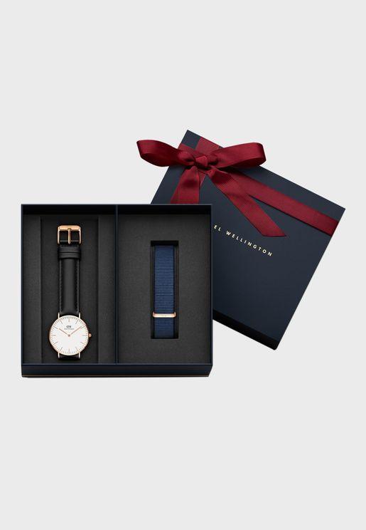 طقم ( ساعة شيفيلد كلاسيك + حزام ساعة)