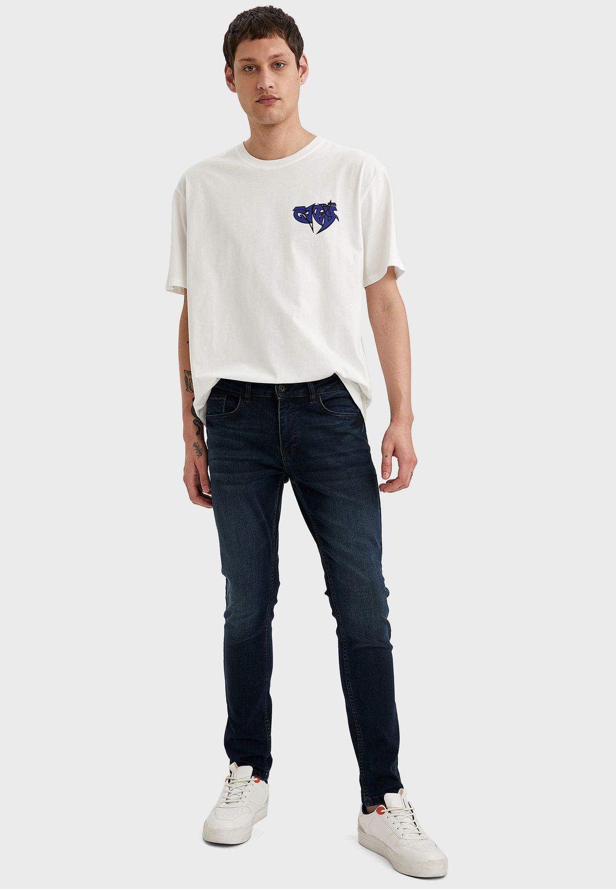 Dark Wash Skinny Fit Jeans