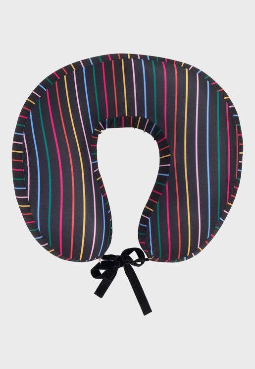 Disco Striped Neck Pillow