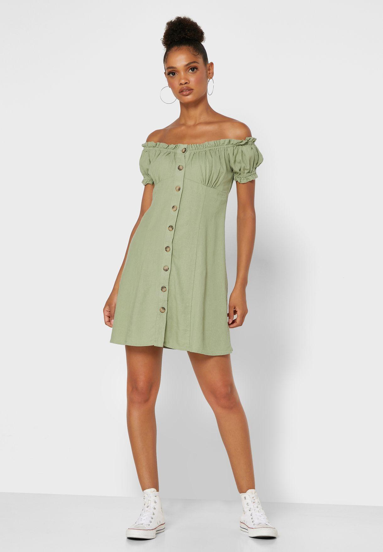 Bardot Milkmaid Dress