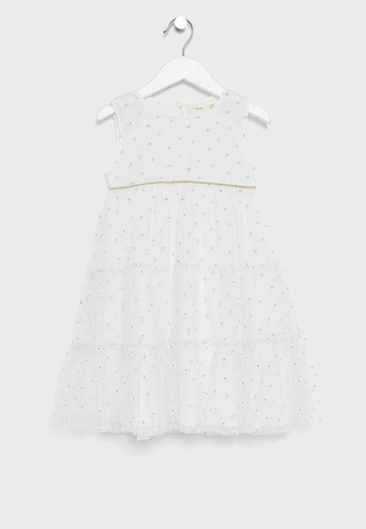 فستان طبقات للاطفال