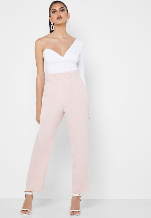 Pleated Detail Cigarette Pants