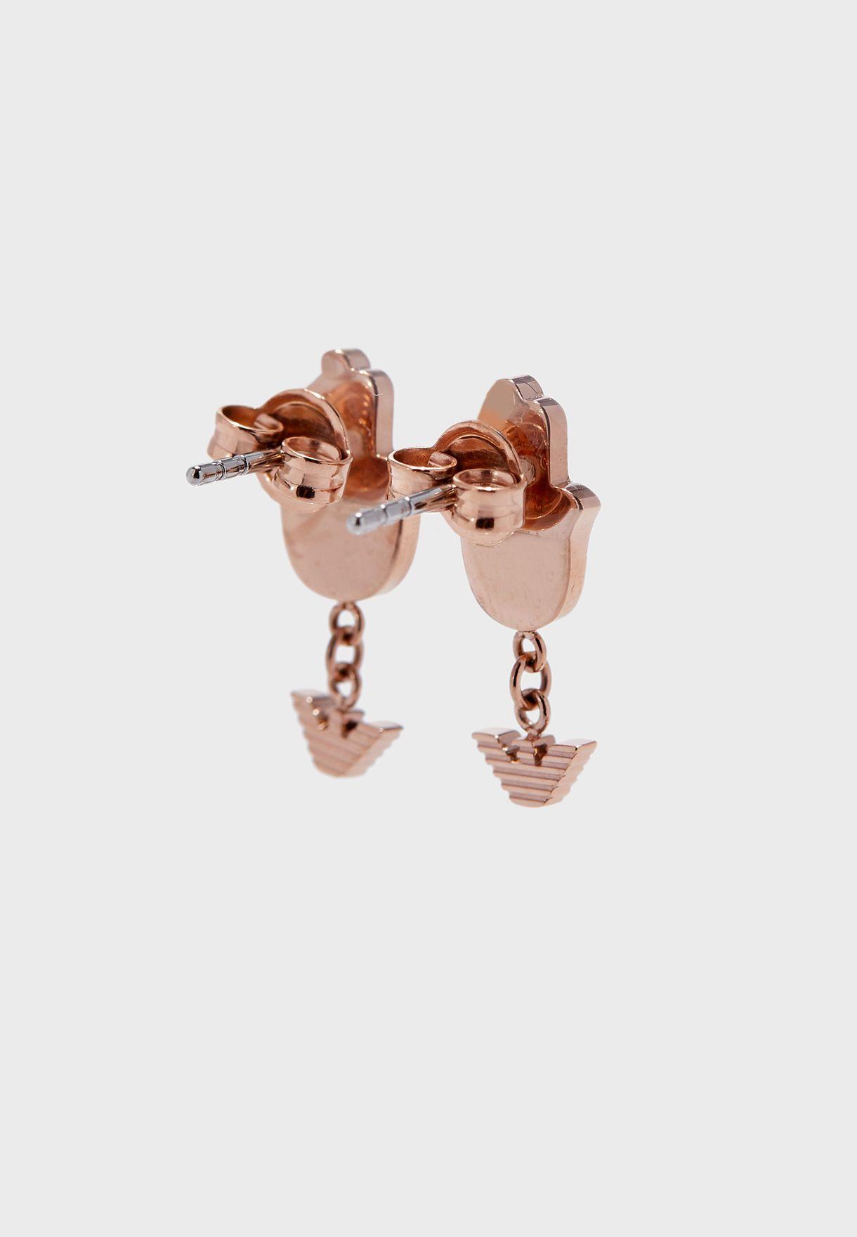 EGS2697221 Mixed Charms Bracelet +Drop Earrings