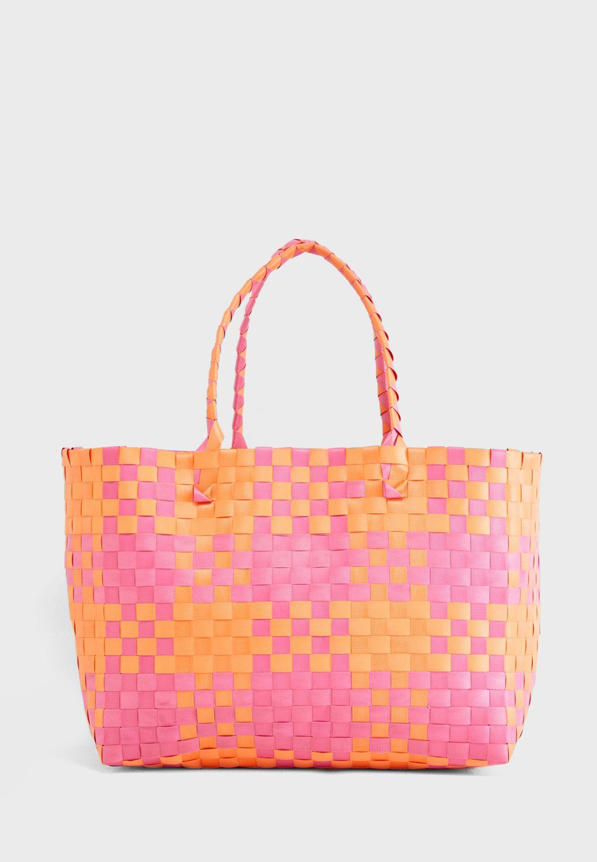 Large Woven Beach Bag