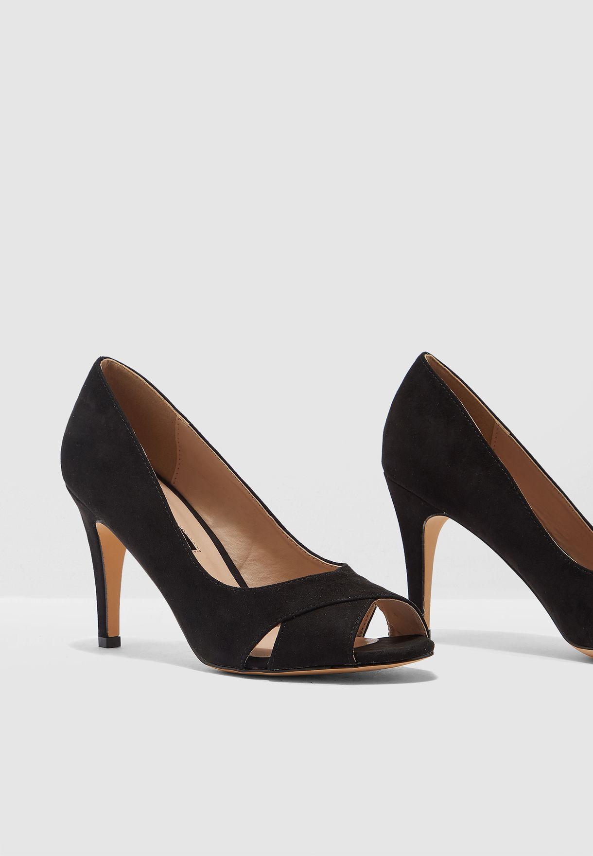 14d99bd72a Shop Dorothy Perkins black Clovers Peep Toe Pump 19253213 for Women ...