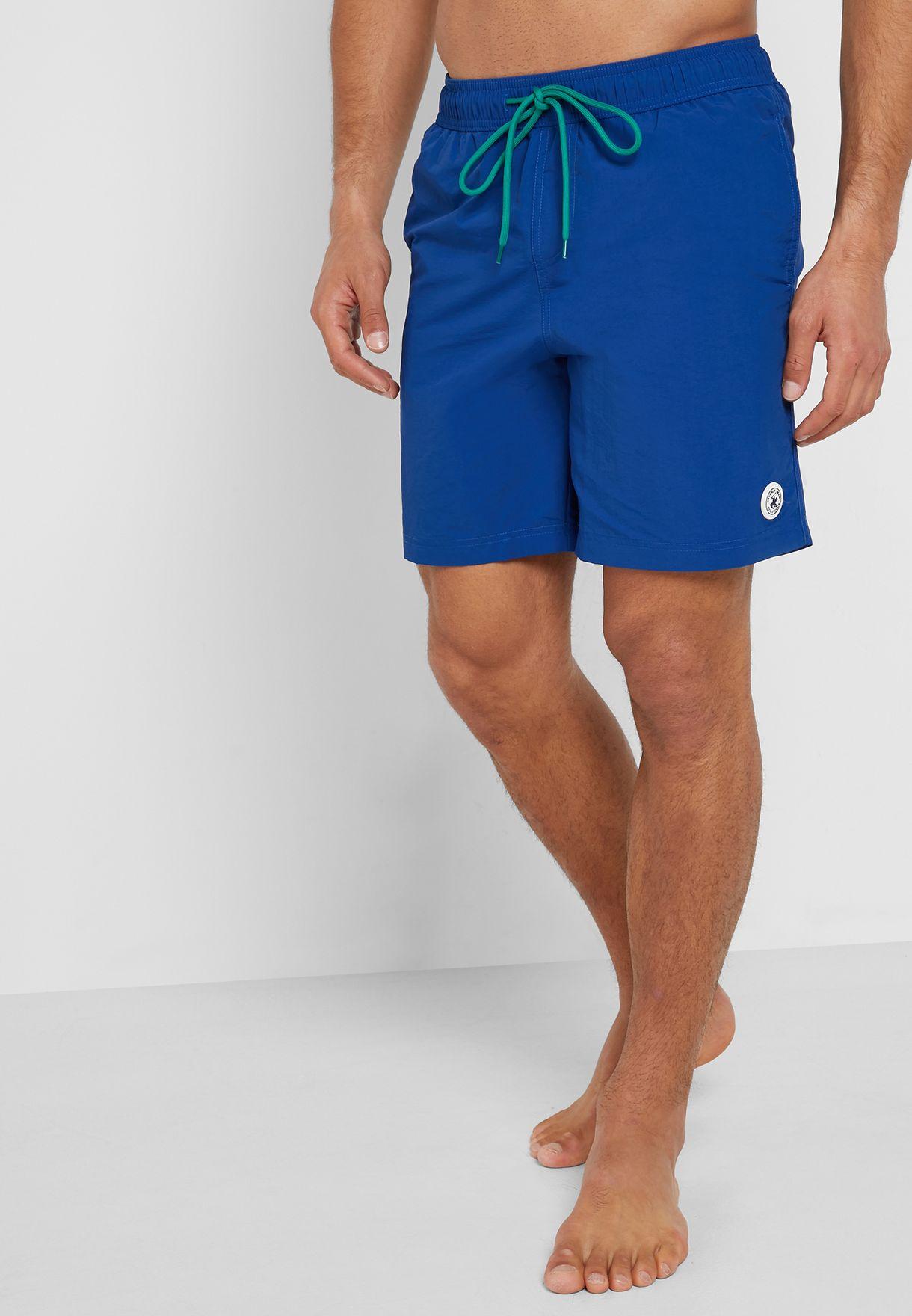 2edab86adc Shop Beverly Hills Polo Club blue Basic Swim Shorts BHPC5501 for Men ...