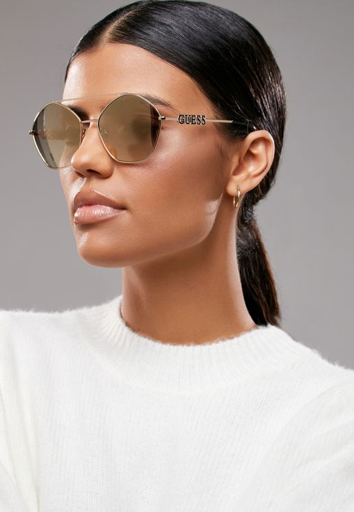 Smoke Mirror Oversized Sunglasses