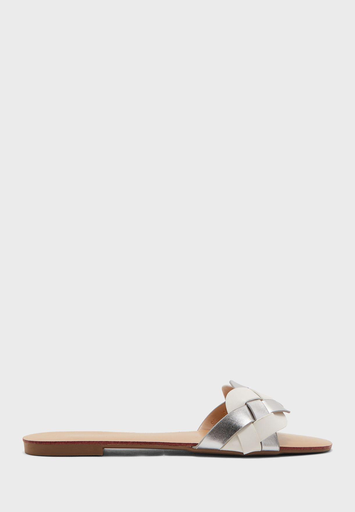 Plaited Flat Sandals