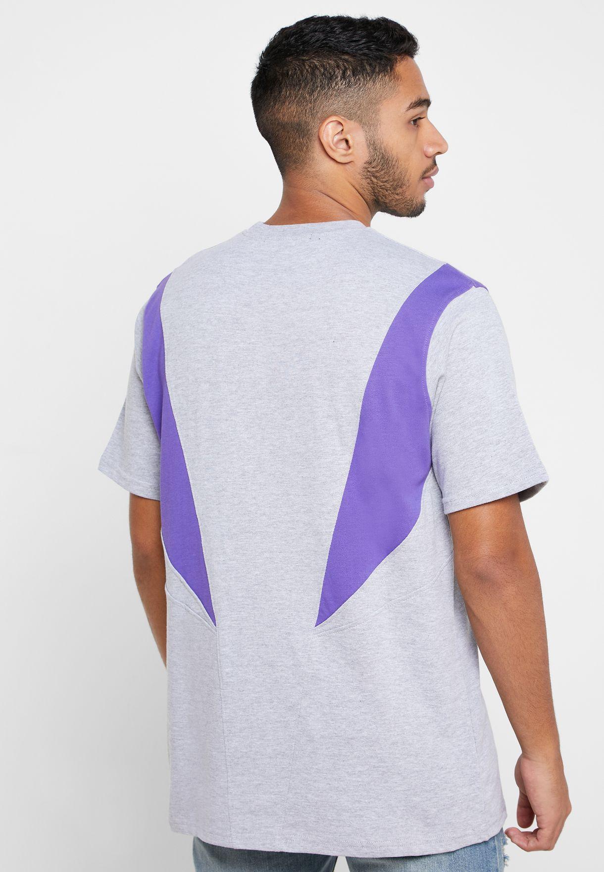 Slash Panelled Crew Neck T-Shirt