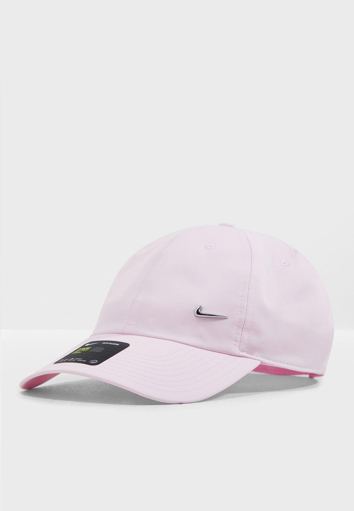 2743b5e61fd Shop Nike pink H86 Metal Swoosh Cap 943092-663 for Women in Saudi ...