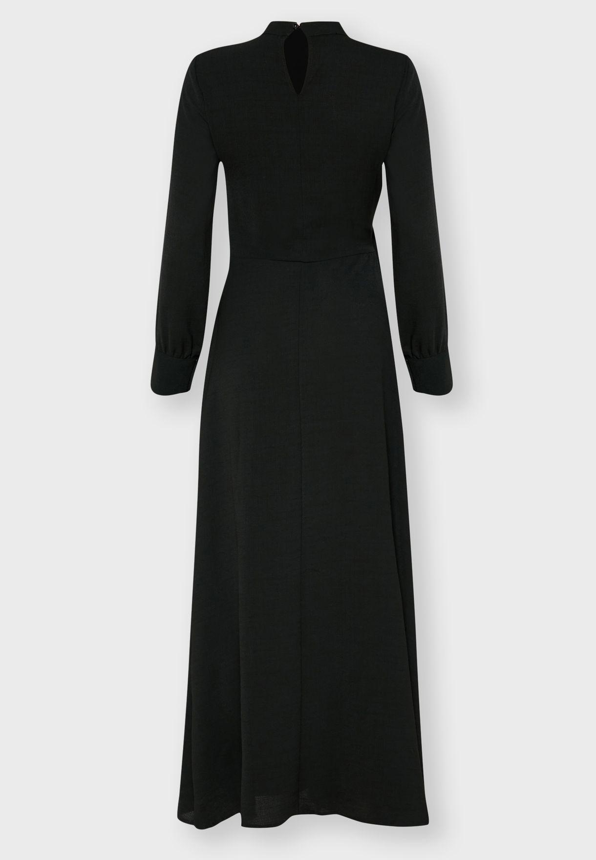 Tie Side Detail Maxi Dress