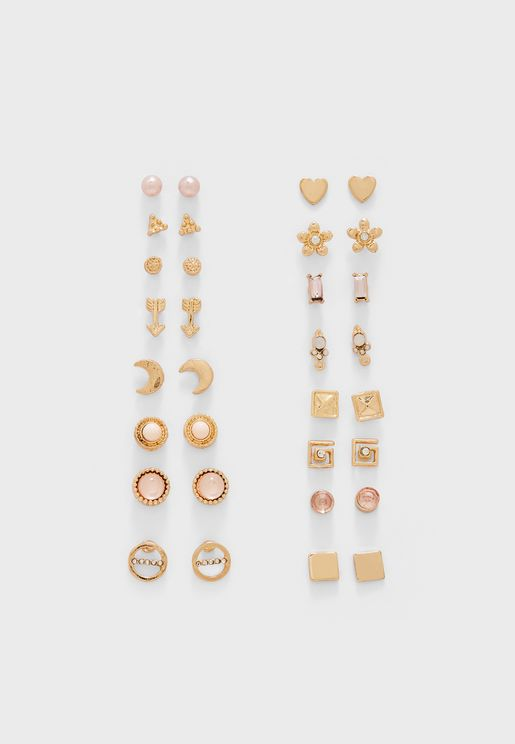 Assorted Stud Earring Set