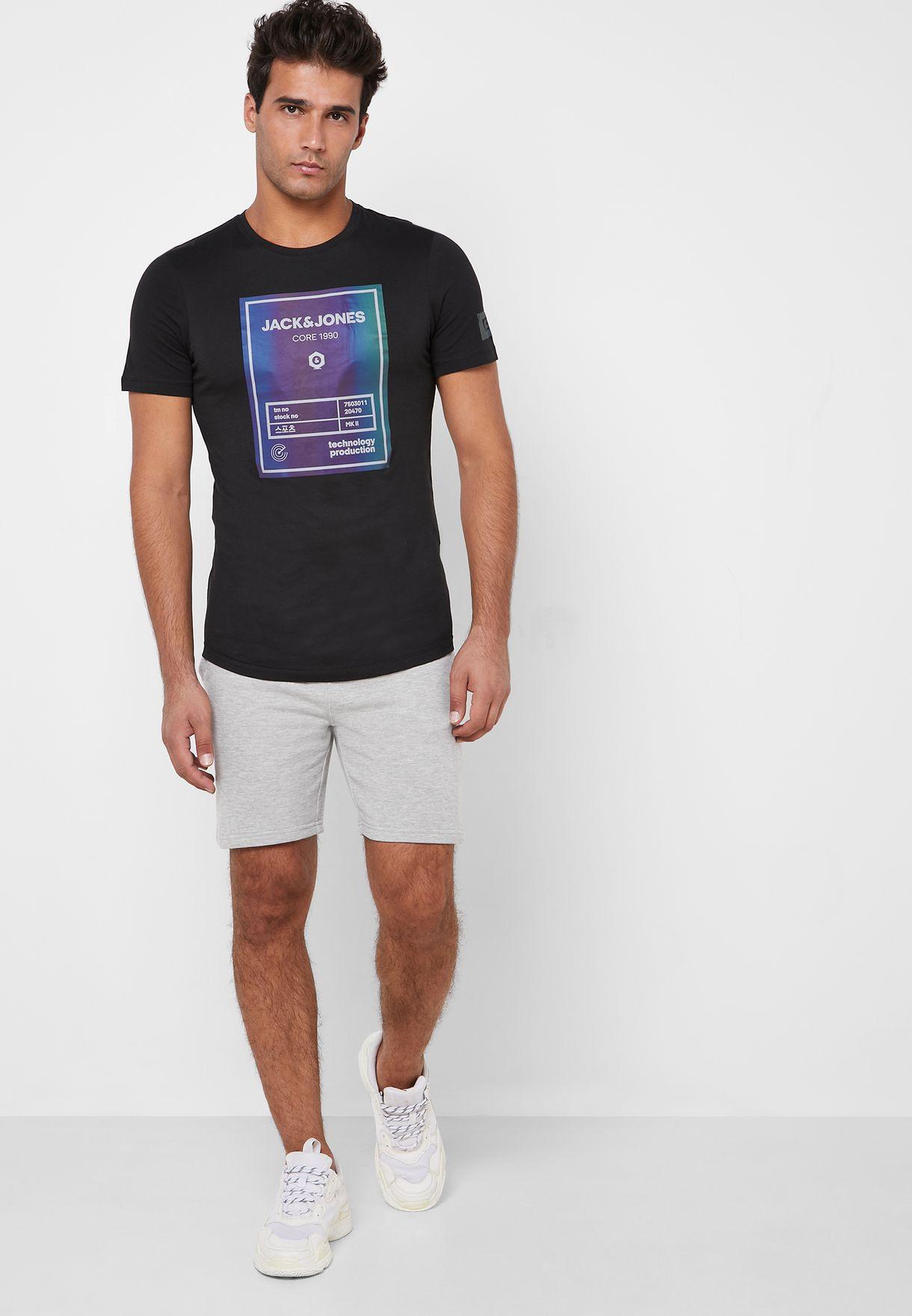 Jeepo Slim Fit Crew Neck T-Shirt