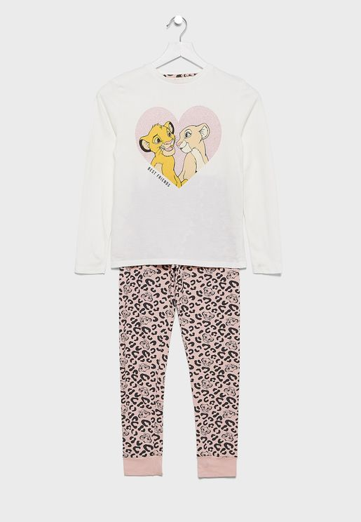 Kids Graphic T-Shirt & Printed Pyjama Set