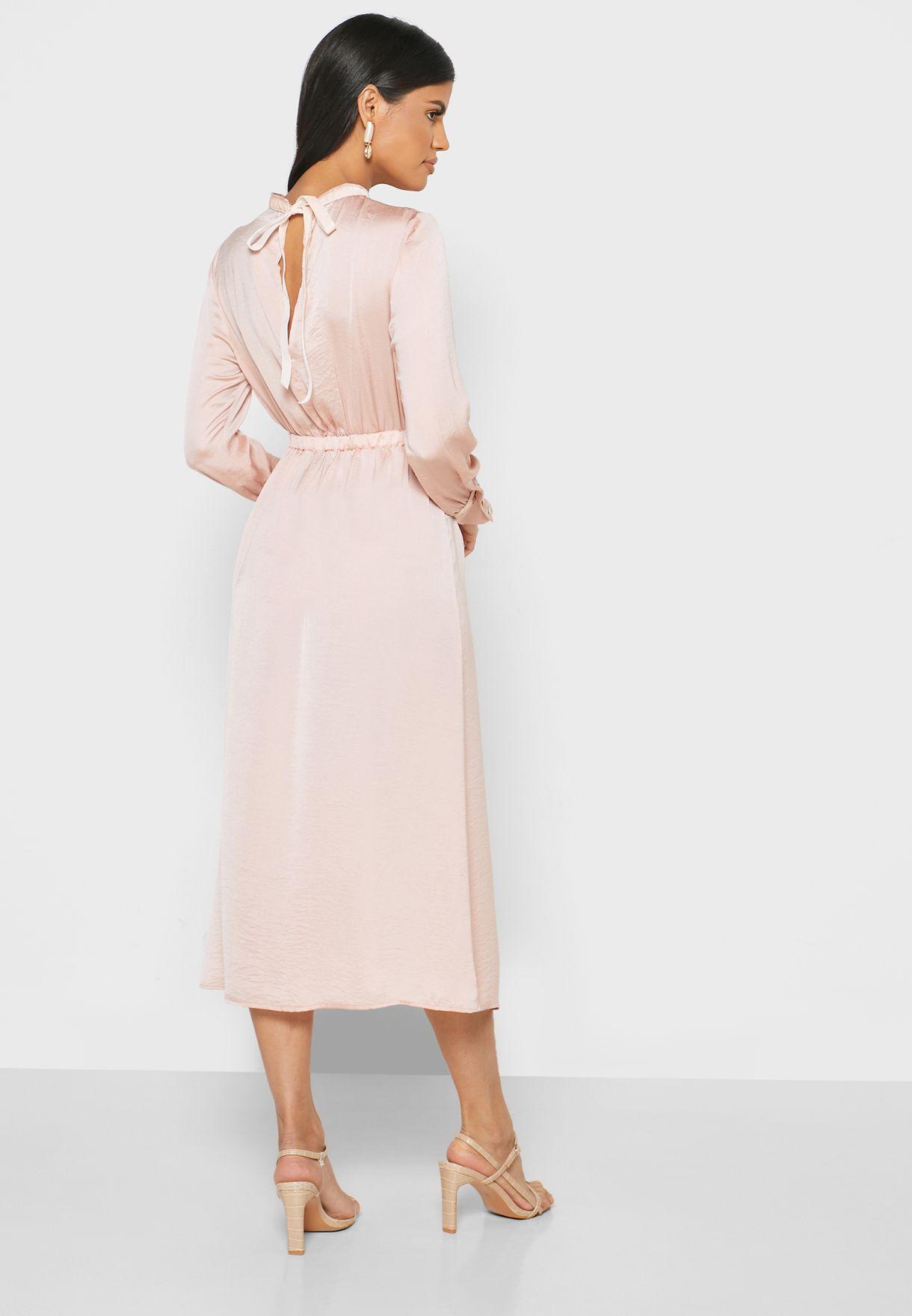 Printed Tierred Midi Dress