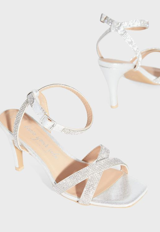 Spark Wide Fit Ankle Strap Buckle Detail Sandal