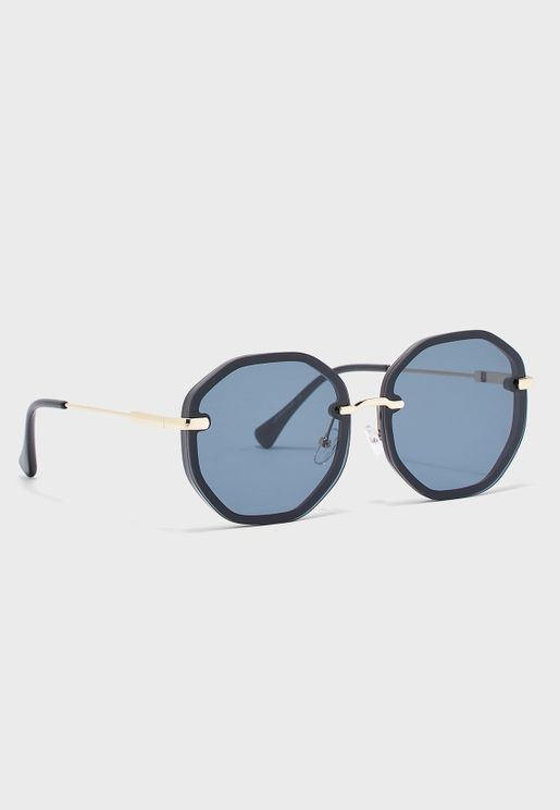 Metal Detail Octagonal Sunglasses