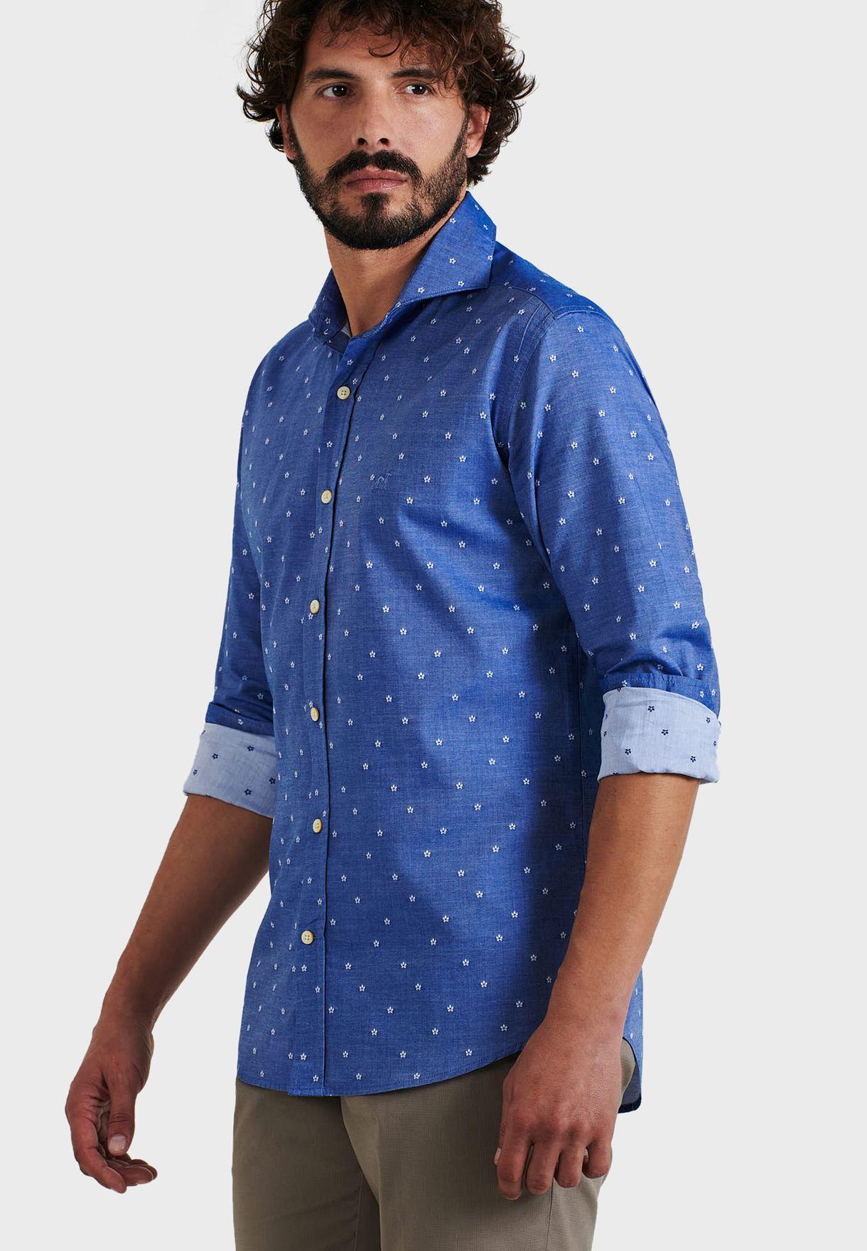 قميص بطباعة زهور