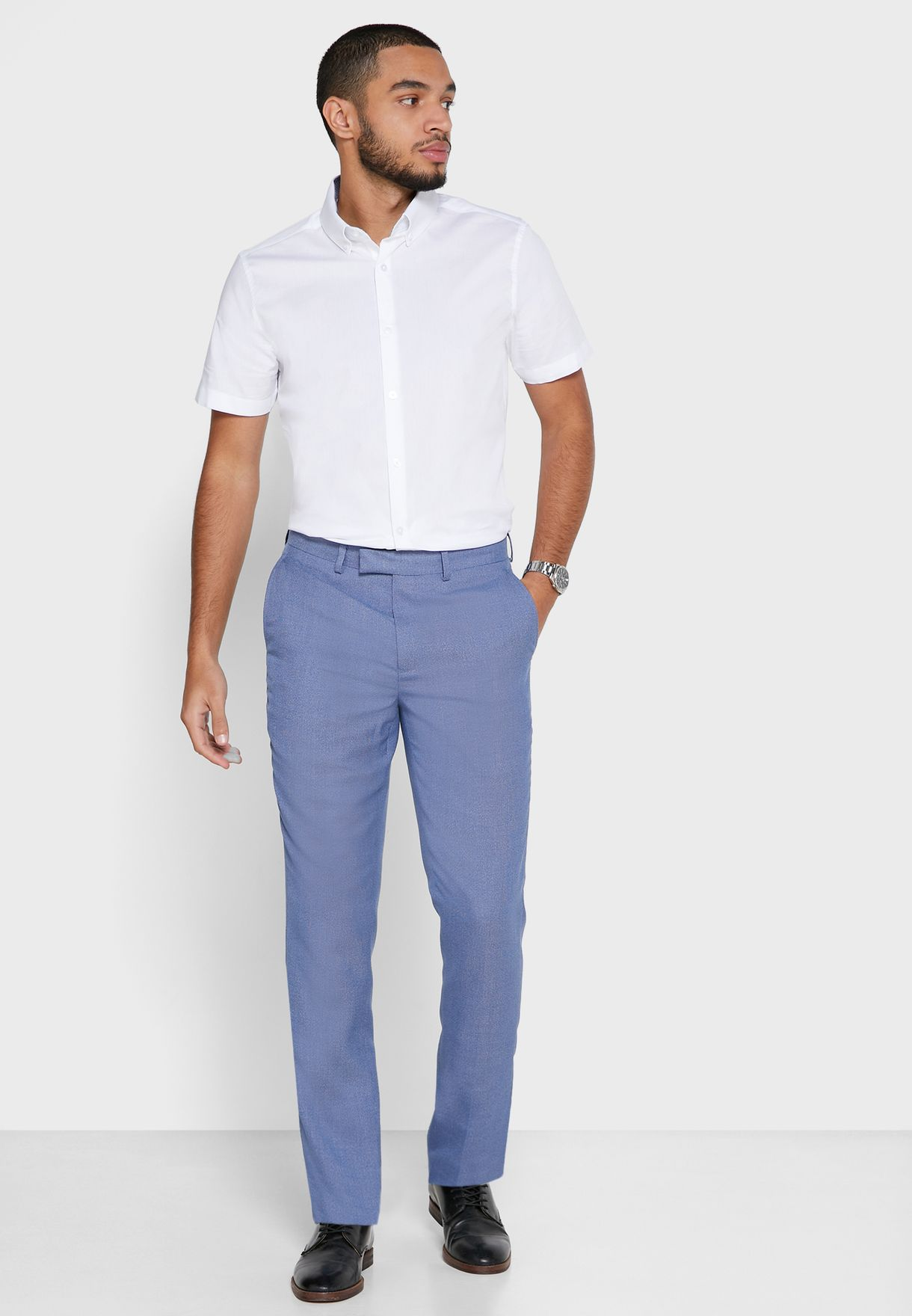 Microweave Slim Fit Trousers