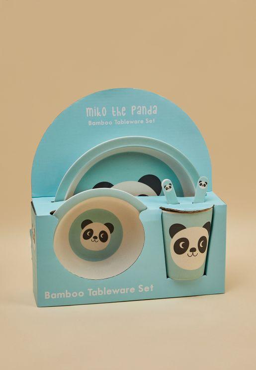 Miko The Panda Bamboo Tableware