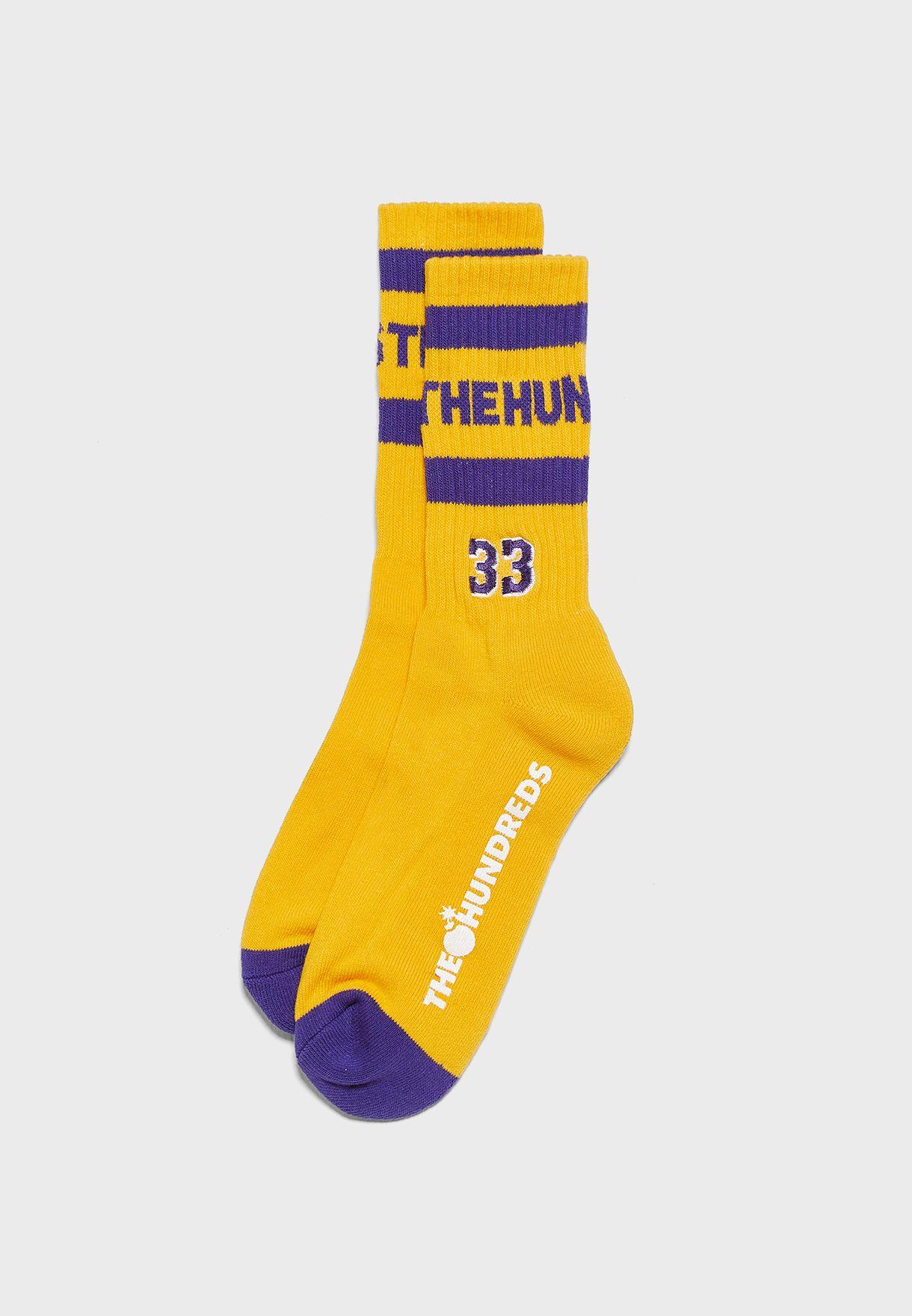 Logo Jersey Socks