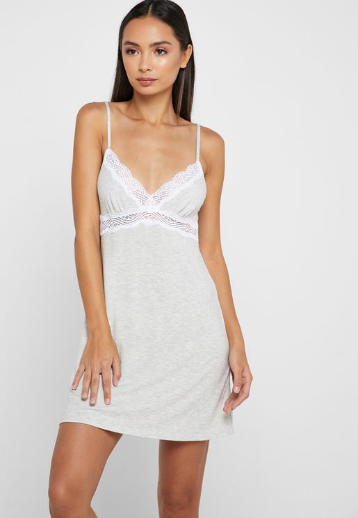 Lace Detail Night Dress