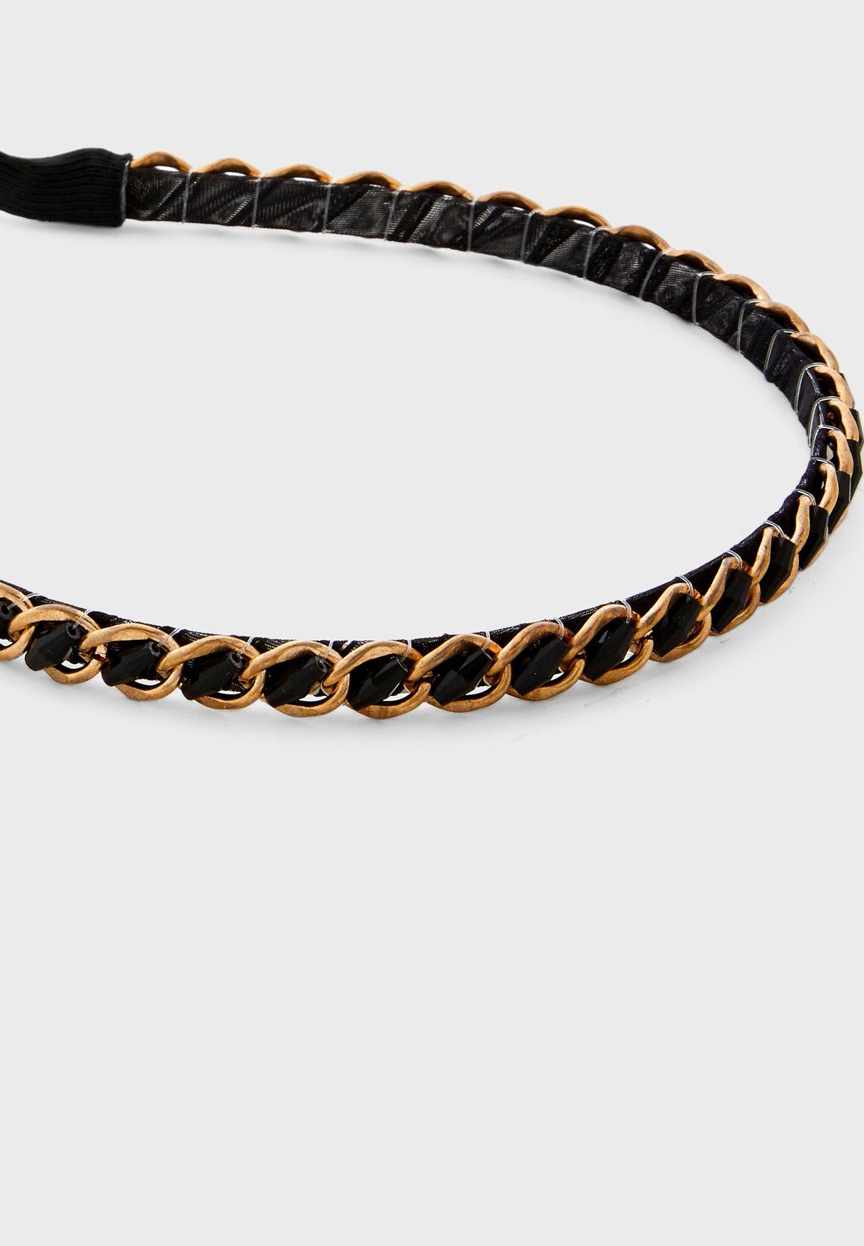 Chain Detail Skinny Headband