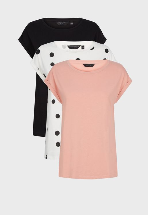 3 Pieces Basic T-Shirt