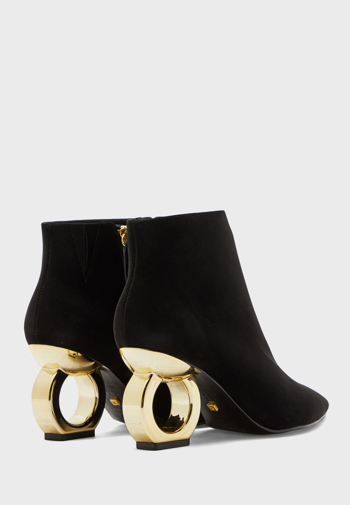 Alba High Heel Abkle Boot
