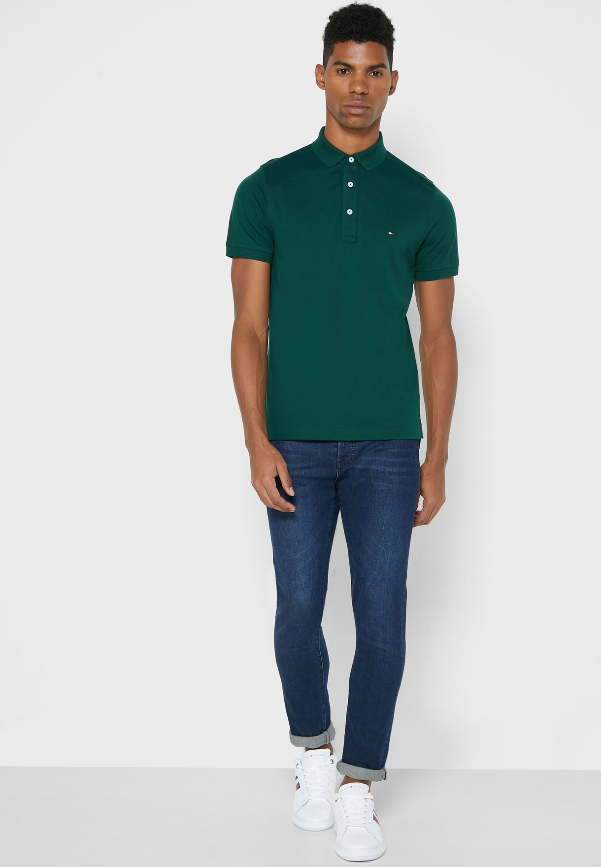 Chest Logo Slim Fit Polo