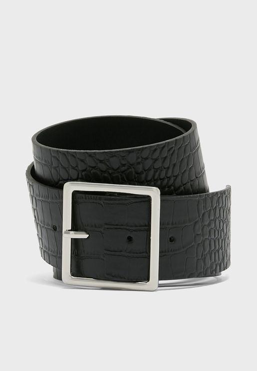 Mock Croc Jeans Belt