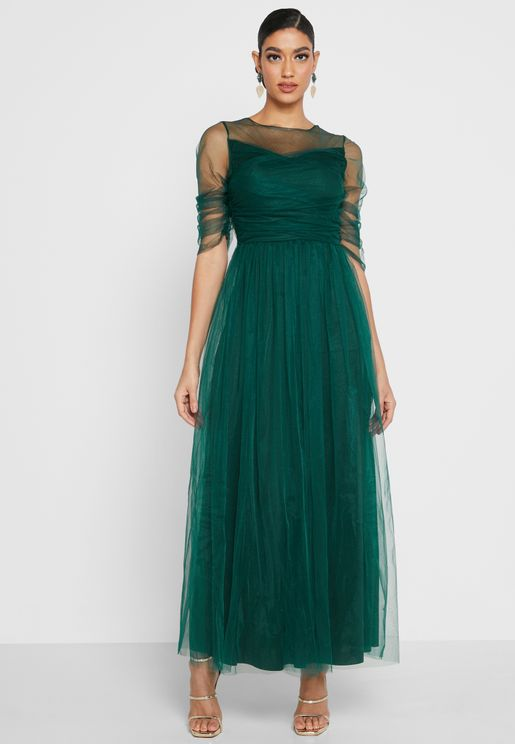 Round Neck Tule Dress