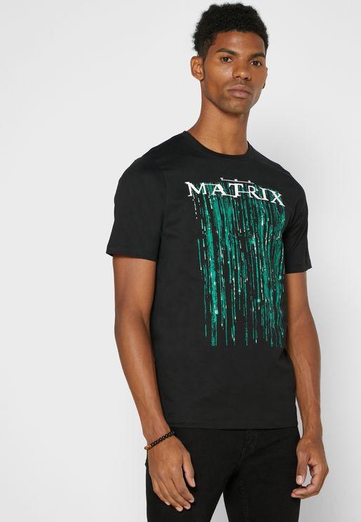 Matrix Crew Neck T Shirt