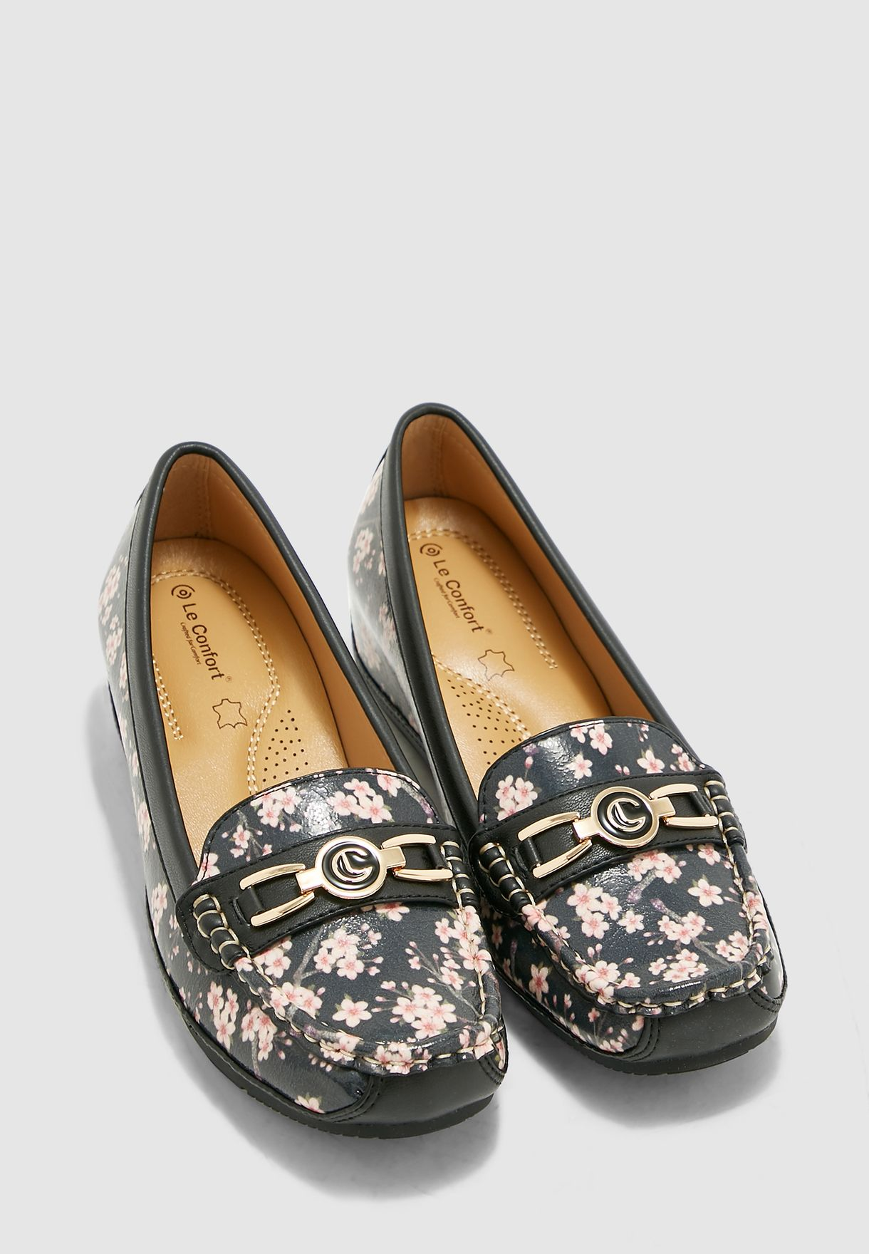 Floral Print Moccasin