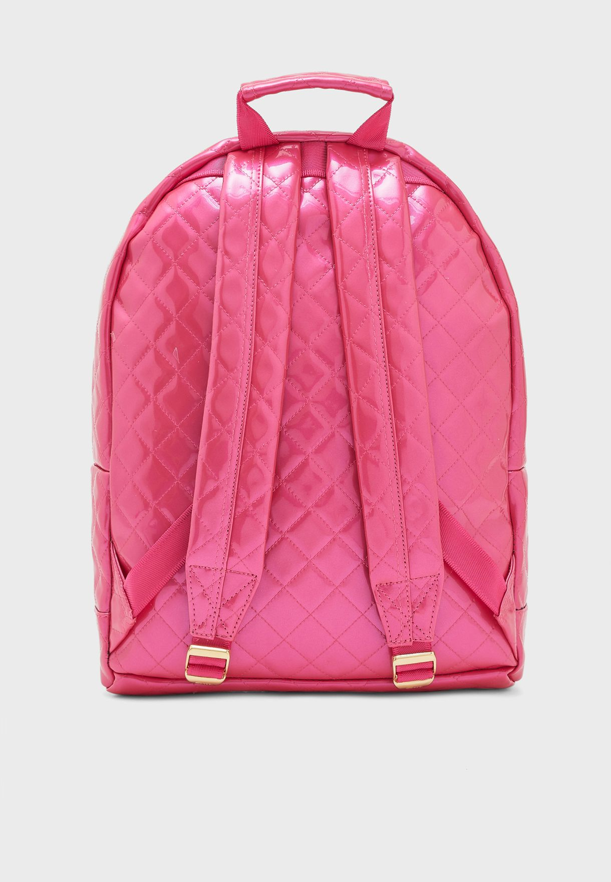Zipper Front Quilted Backpack