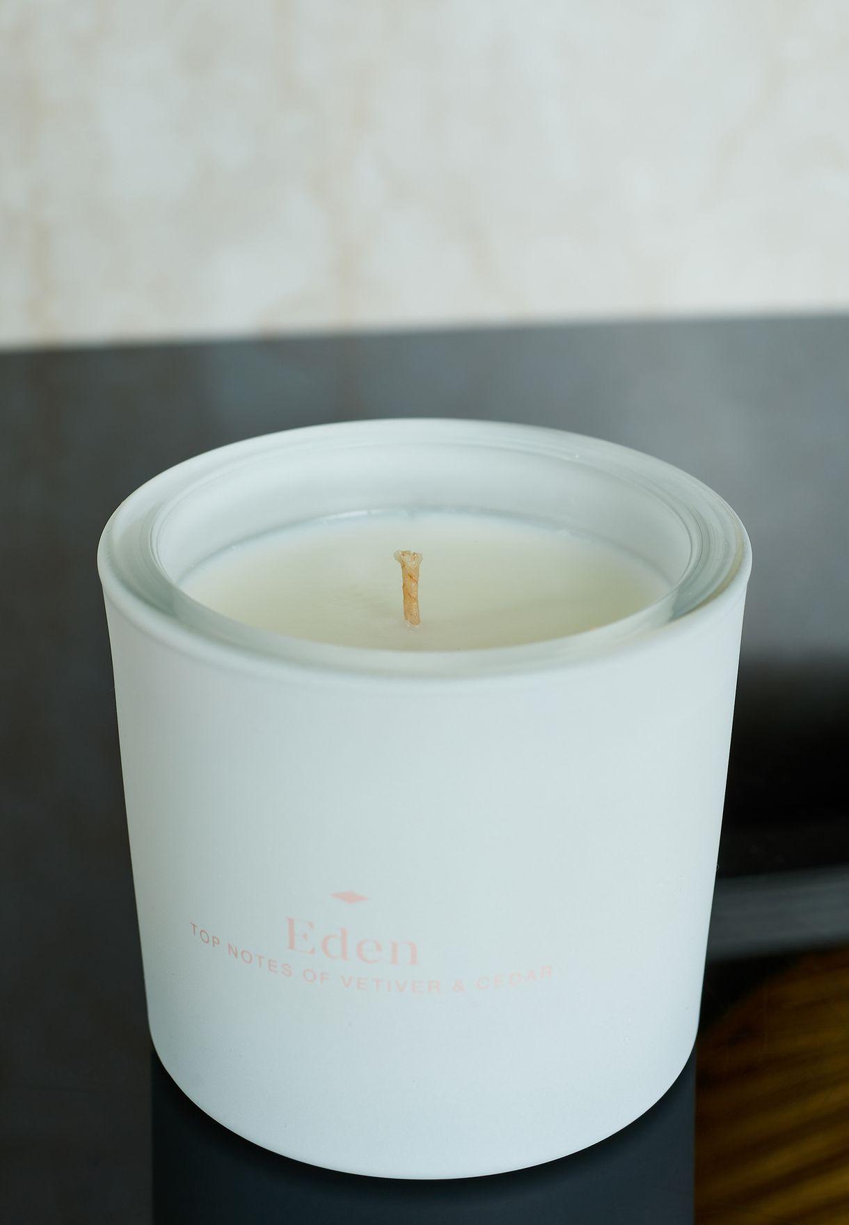 شمعة عطرية نجيل الهند وخشب الارز 200 مل