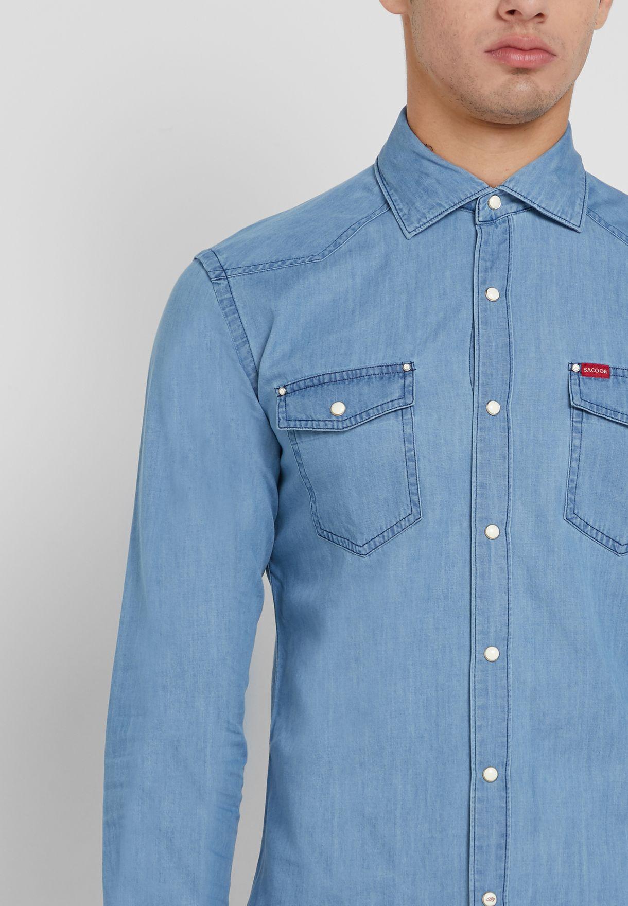 قميص جينز سلم فيت