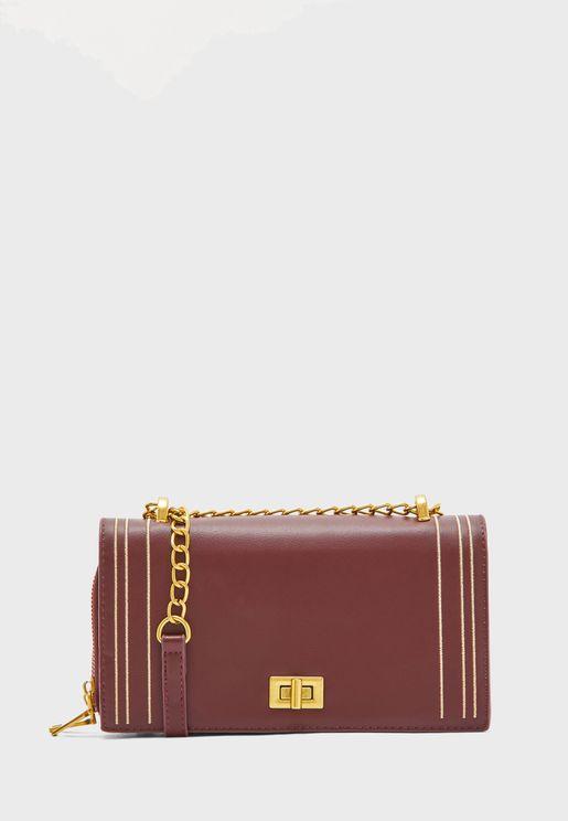 Chain Handle Handbag