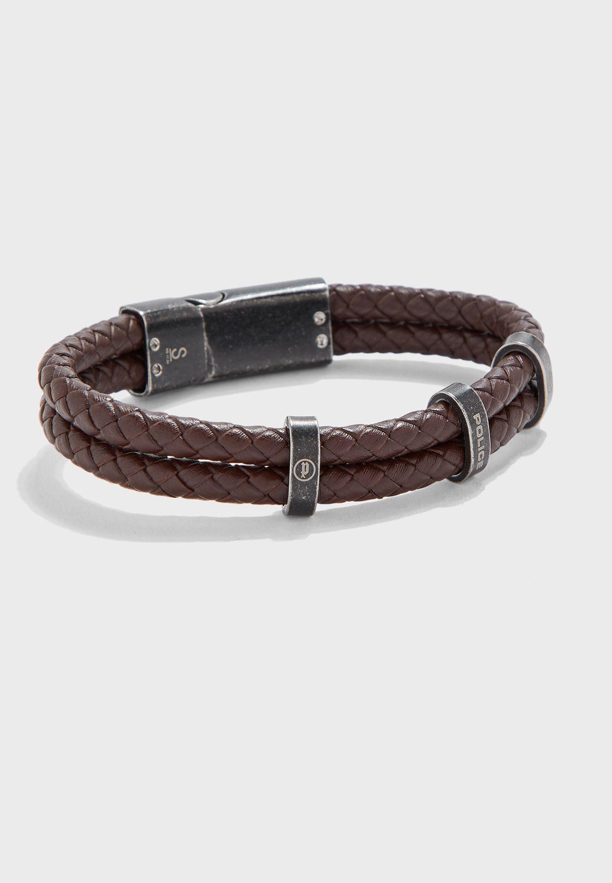 P PJ 25715BLC/02-S Stacked Bracelet