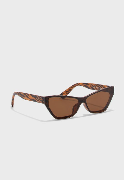 Cat-Eye Tiger Striped Sunglasses