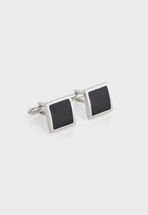 Square Inlay Cufflinks In Giftbox
