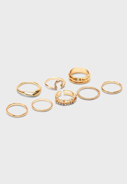 Multipack Diamante Rings