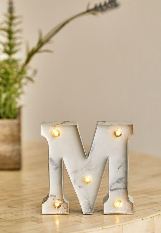 """وحدة اضاءة صغيرة بشكل حرف """"M"""""""