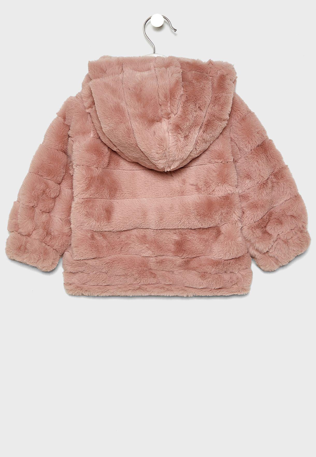 Little Stripe Fur Jacket