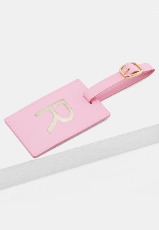 R Monogram Luggage Tag