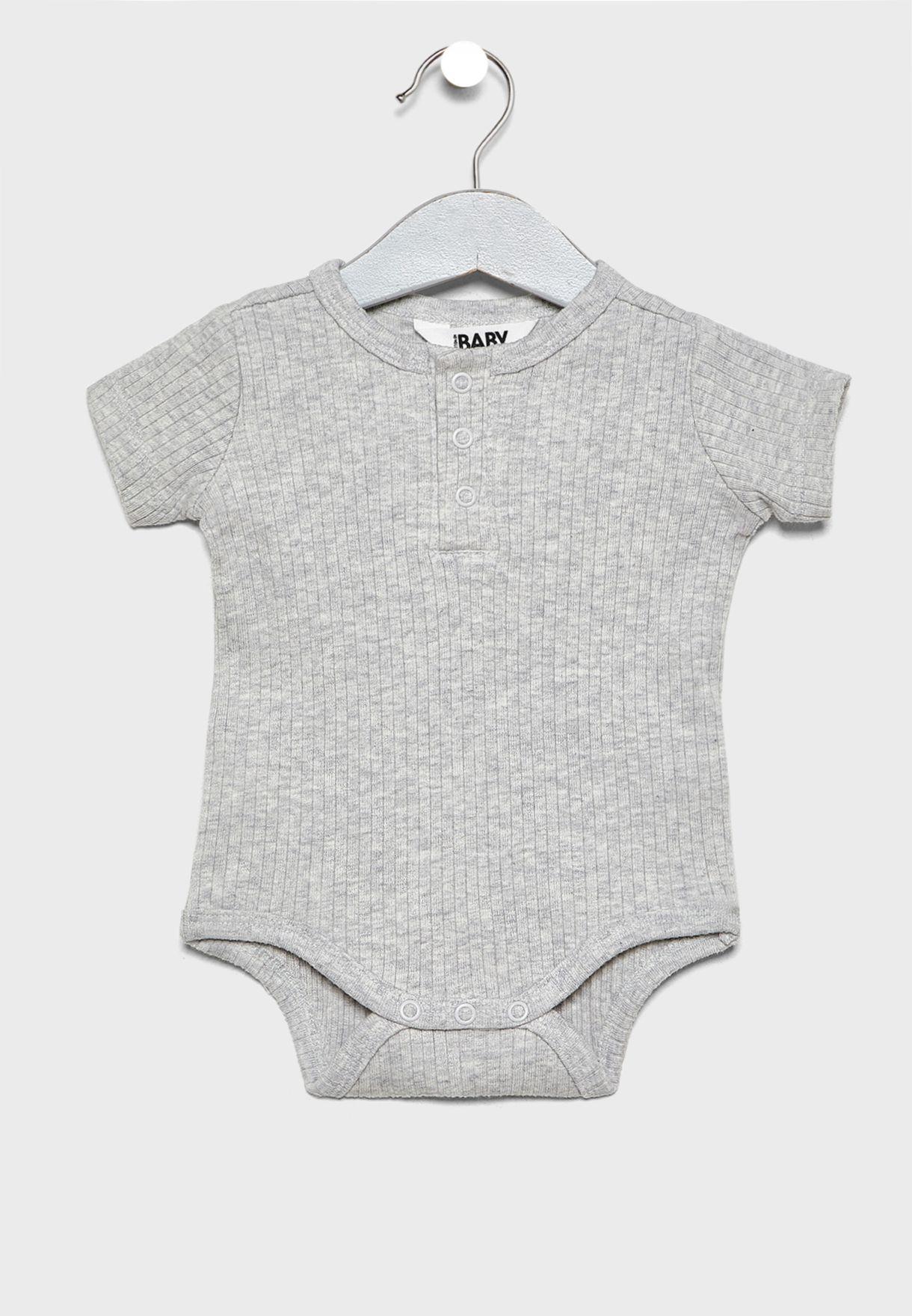 Infant Button Detail Bodysuit