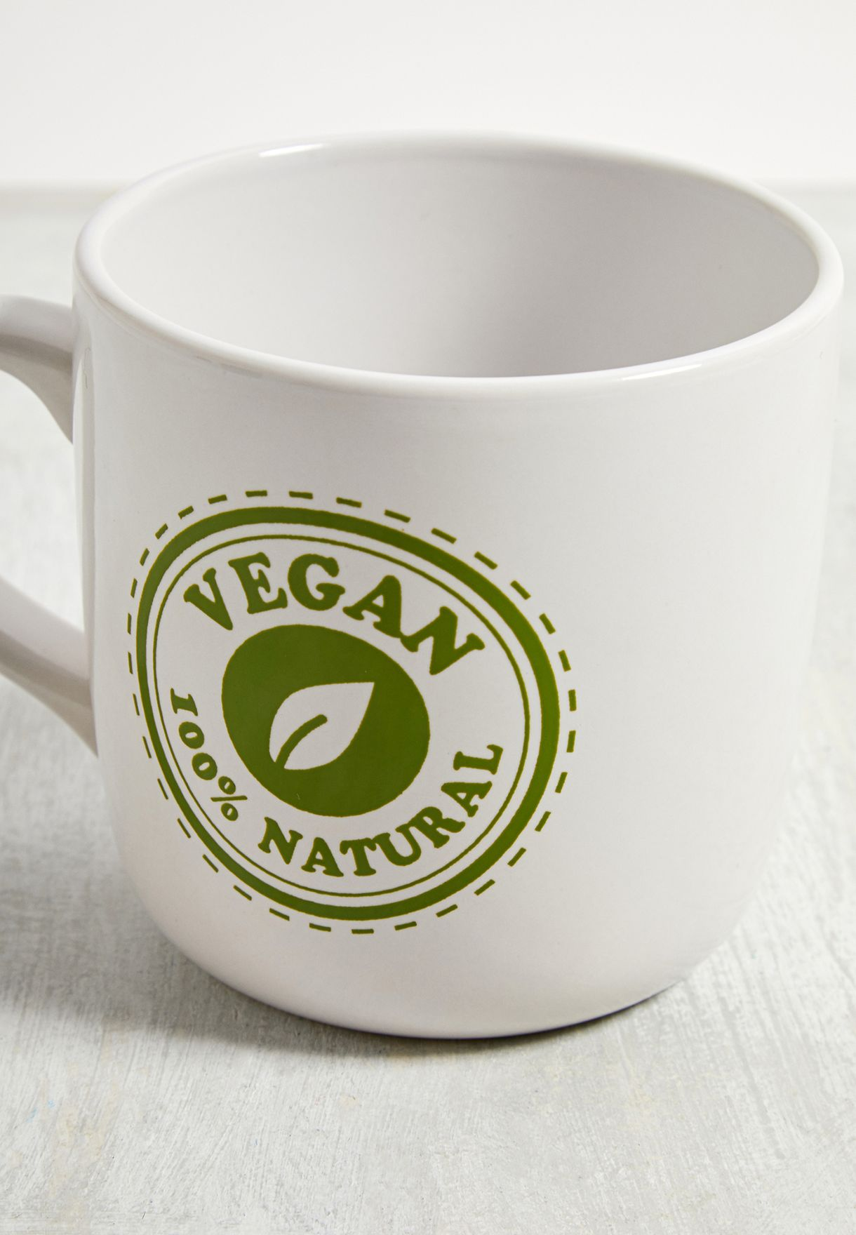 100% Vegan Slogan Mug